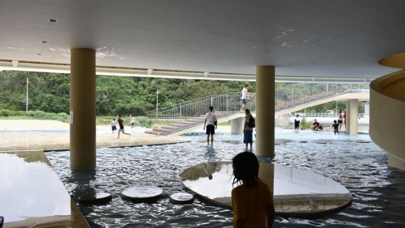 道の駅ぎのざの水遊びプール