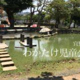 【宜野湾市】わかたけ児童公園で水遊びしてきた!湧き水で作られたじゃぶじゃぶ池は生き物がいっぱい