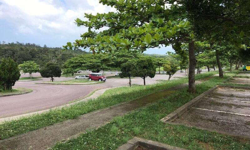 倉敷ダムの駐車場